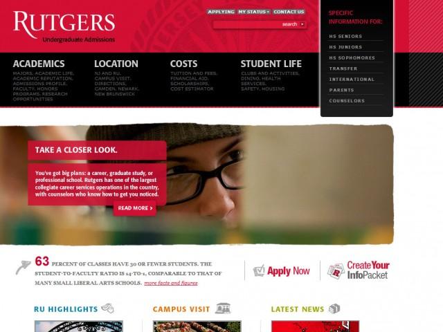 Rutgers University Undergraduate Admissions
